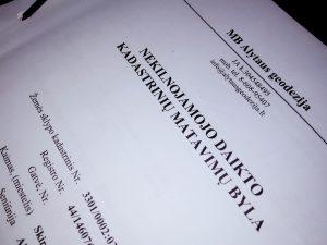 Kadastrinių matavimų byla